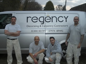 Photo of the team at Regency Decorating Limited.